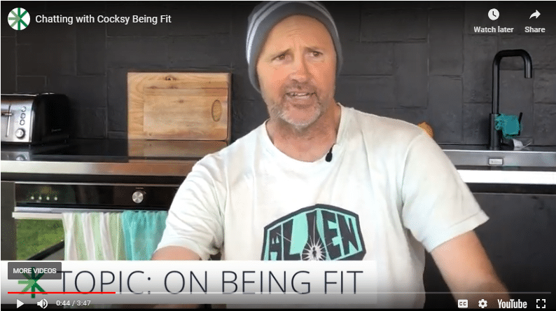 Cocksy on being fit